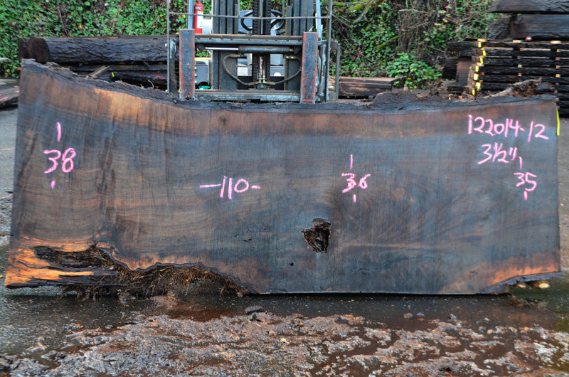 Oregon Black Walnut Slab 122014-12