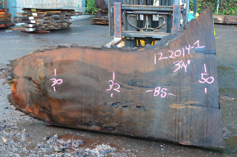 Oregon Black Walnut Slab 122014-01