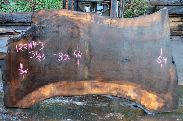 Oregon Black Walnut Slab 122114-03