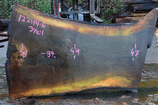 Oregon Black Walnut Slab 122114-06