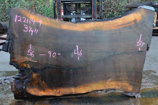 Oregon Black Walnut Slab 122114-09
