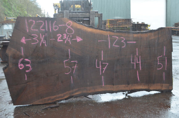 Oregon Black Walnut Slab 122116-08