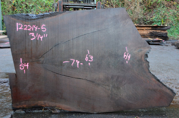 Oregon Black Walnut Slab 122214-05