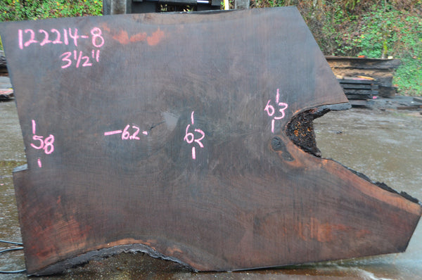 Oregon Black Walnut Slab 122214-08