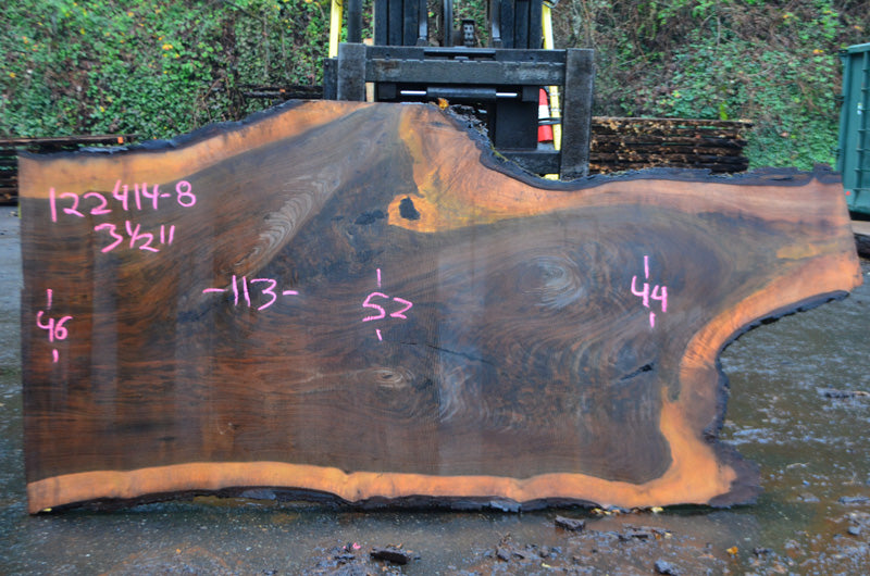 Oregon Black Walnut Slab 122414-08