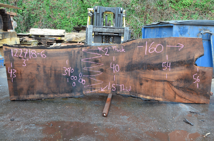 122718-06 Oregon Black Walnut Slab