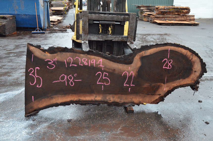Oregon Black Walnut Slab 122819-01