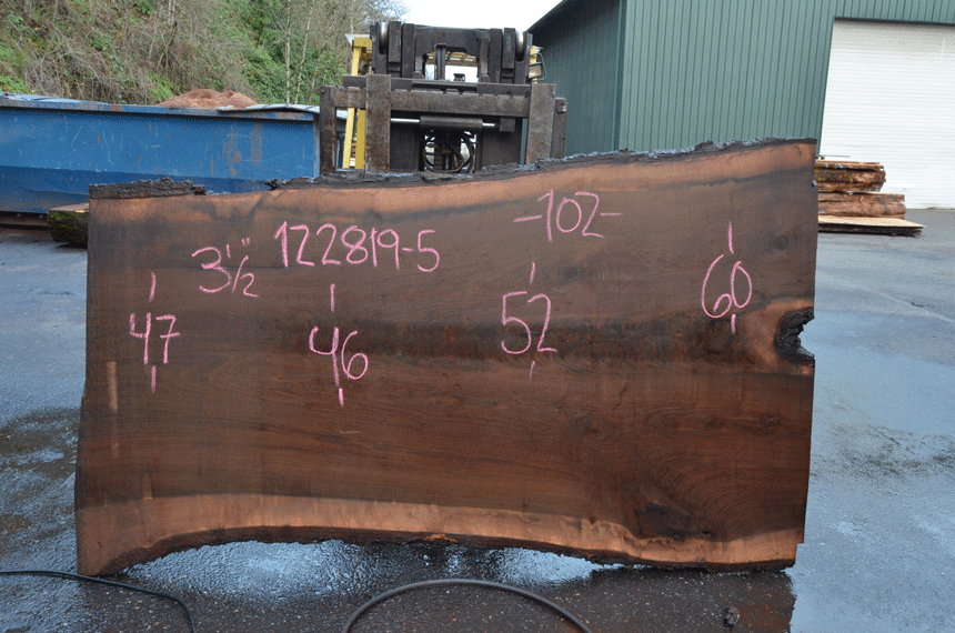 Oregon Black Walnut Slab 122819-05