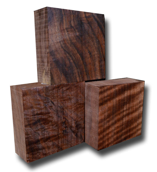 "Oregon Black Walnut Turning Block Figured - 5"" x 5"" x 2"""