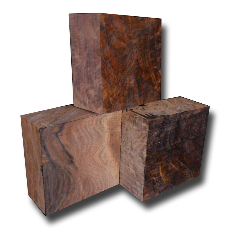 "Oregon Black Walnut Turning Block Figured - 6"" x 6"" x 2.75"""