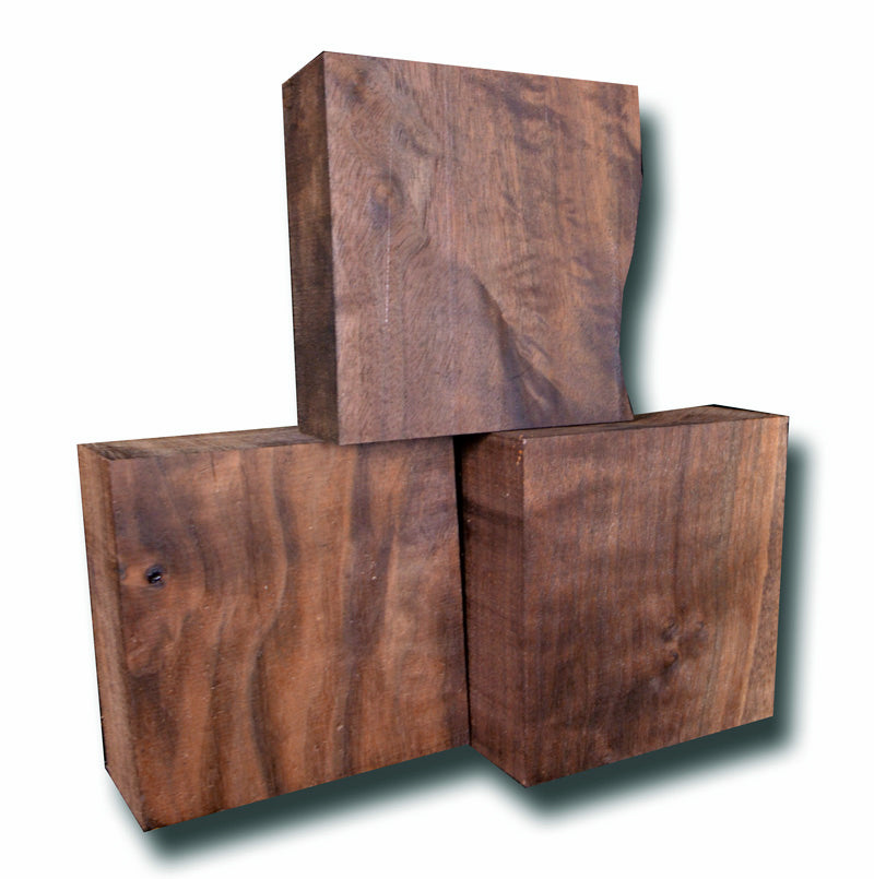 "Oregon Black Walnut Turning Block - 6"" x 6"" x 2.75"""
