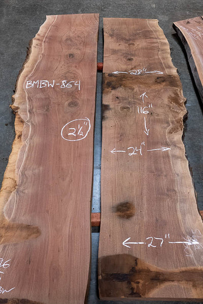 Oregon Black Walnut Bookmatch BMBW-864