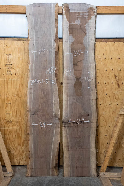 Oregon Black Walnut Bookmatch BMBW-872
