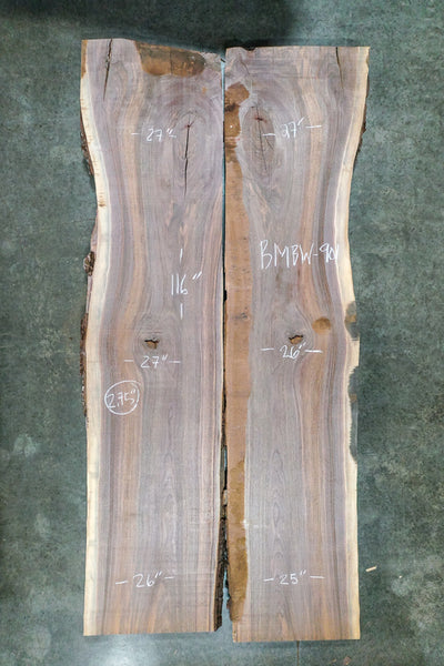 Oregon Black Walnut Bookmatch BMBW-901
