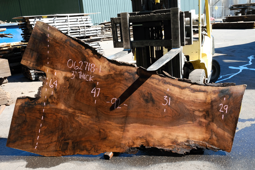 Oregon Black Walnut Slab 062718-01