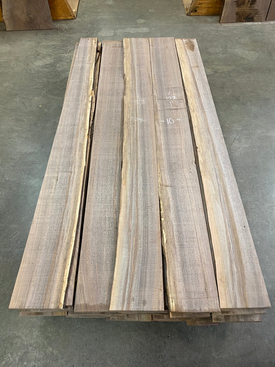 4/4 Clear Oregon Black Walnut