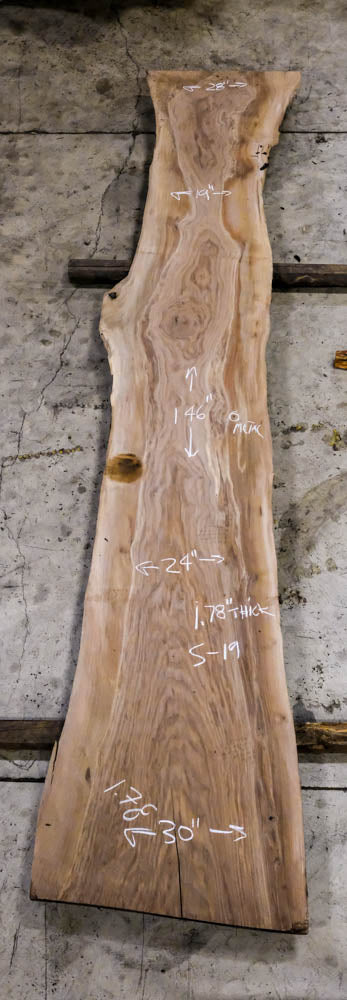 Oregon Black Walnut Slab S-19