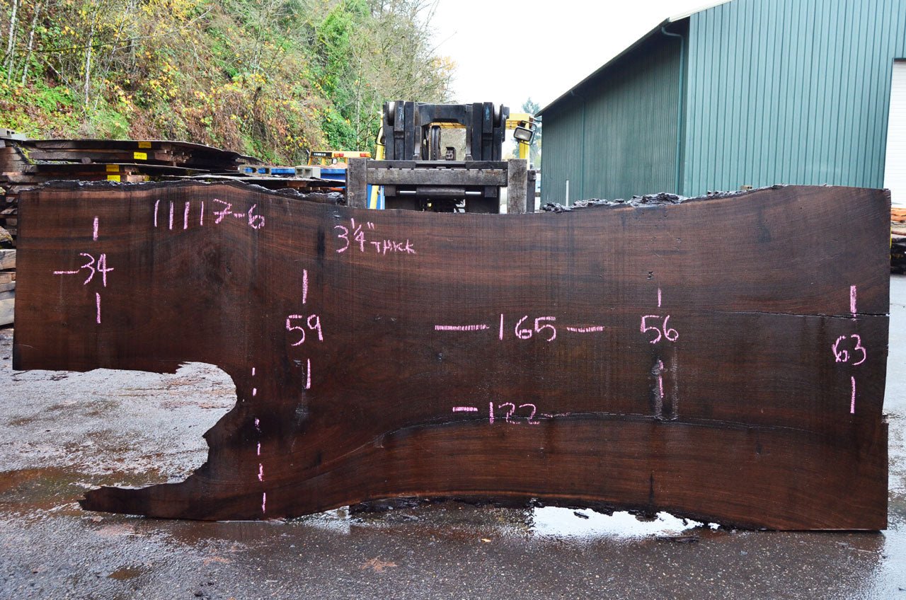 Oregon Black Walnut Slab 110117-06