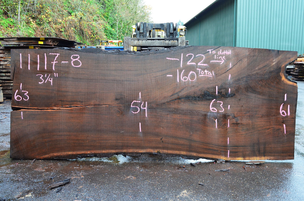 Oregon Black Walnut Slab 110117-08