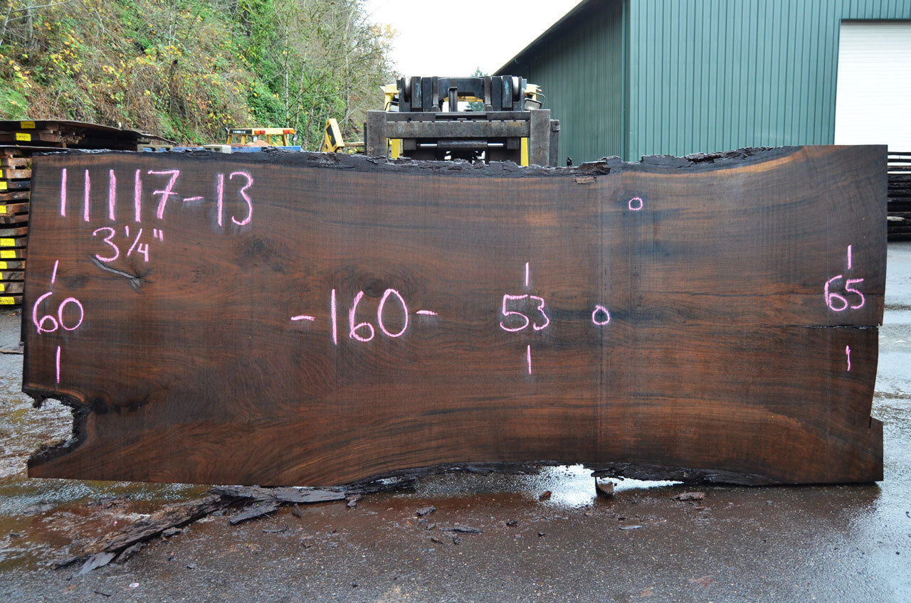 Oregon Black Walnut Slab 110117-13