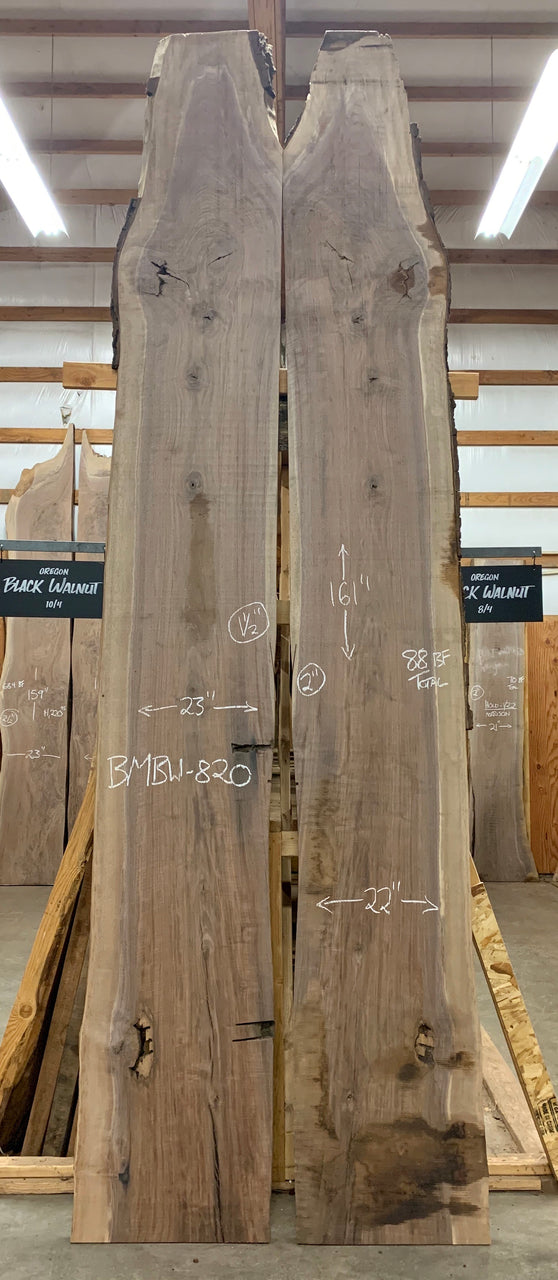 Oregon Black Walnut Bookmatch BMBW-820