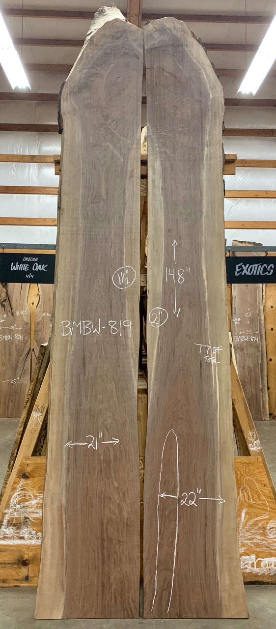 Oregon Black Walnut Bookmatch BMBW-819