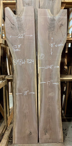 Oregon Black Walnut Bookmatch BMBW-824