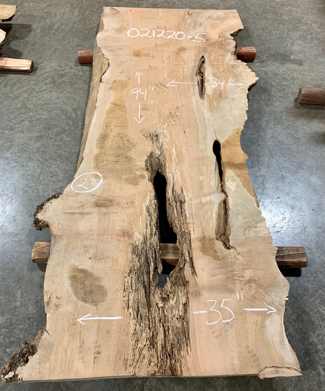 Big Leaf Maple Slab 021220-5