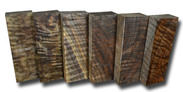 Oregon Black Walnut Knife Scales 6-Pack