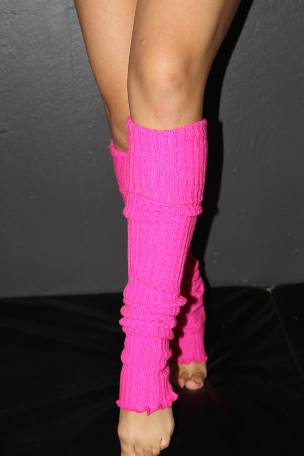 Rarr Extra Long Stirrup Knit Legwarmers