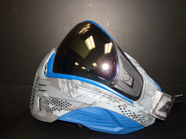 Unite Mask - Custom Grey Camo w/ Blue