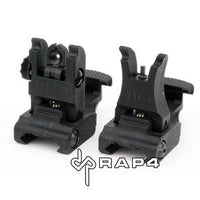 Tactical Flip Up Sight Set - Black