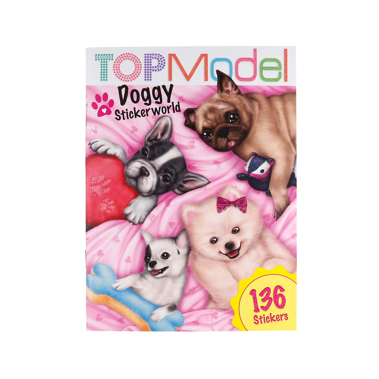 Pocket Stickerworld Doggy Book