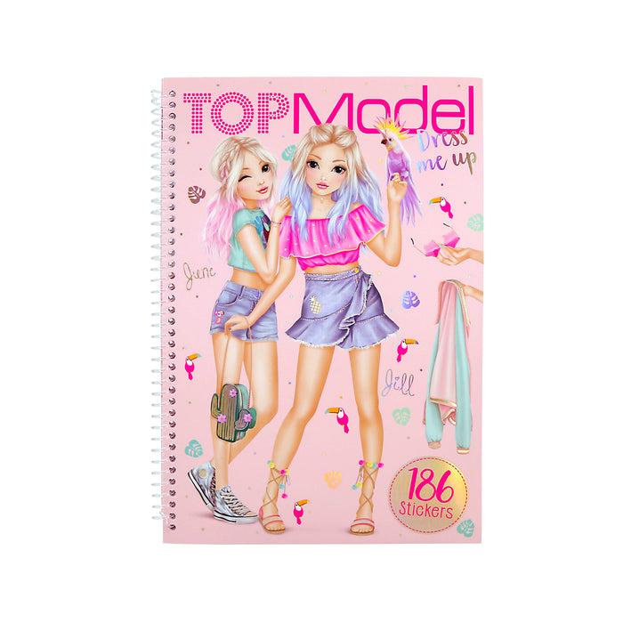 Top Model Dress Me Up Tropical Sticker Book