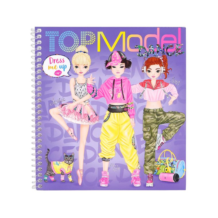 Top Model Dress Me Up Dance Colouring Book