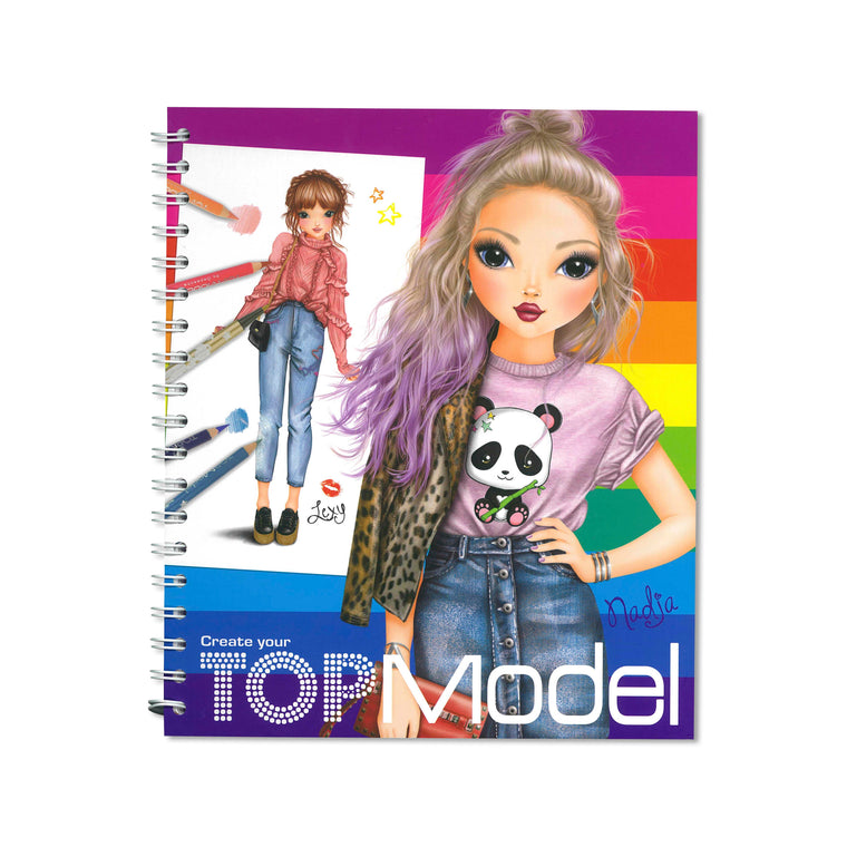 Create Your Top Model Colouring/Activity Book