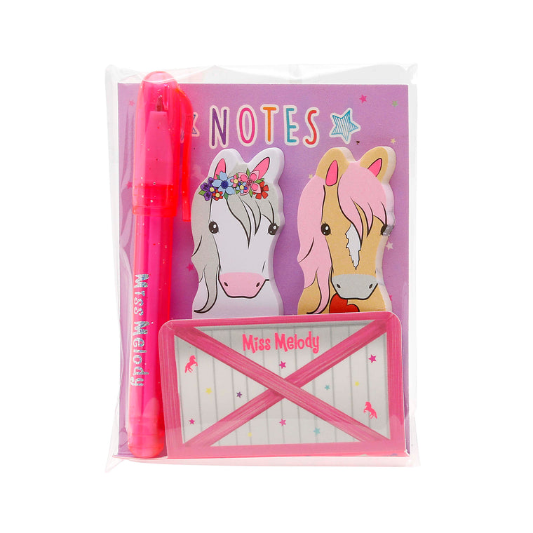 Miss Melody Sticky Notes With Mini Ball Pen