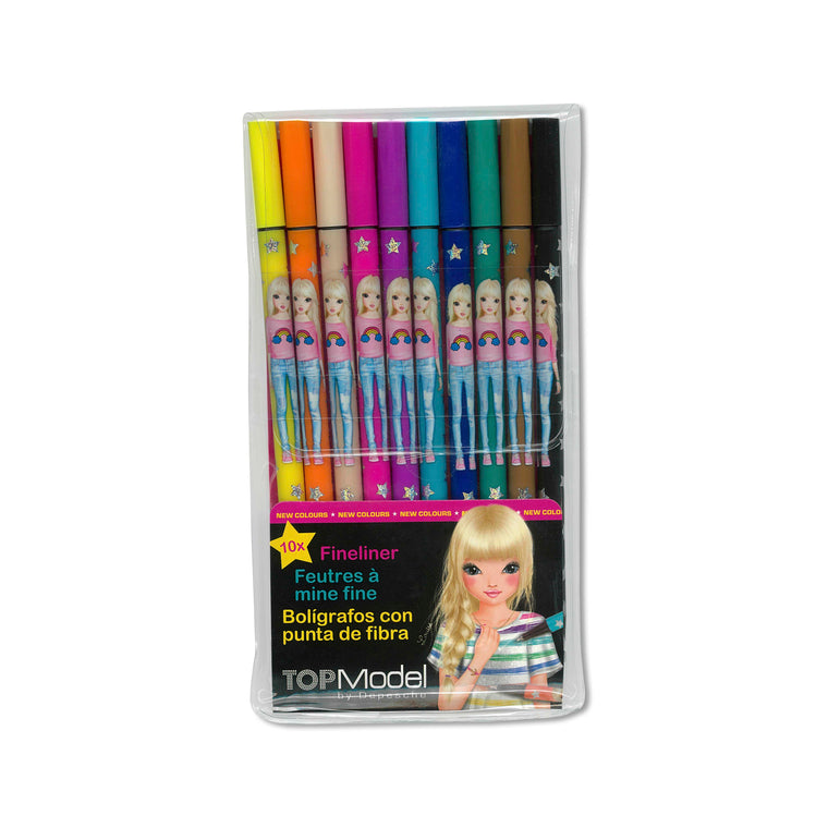 Fineliner Pen Set of 10 Colours