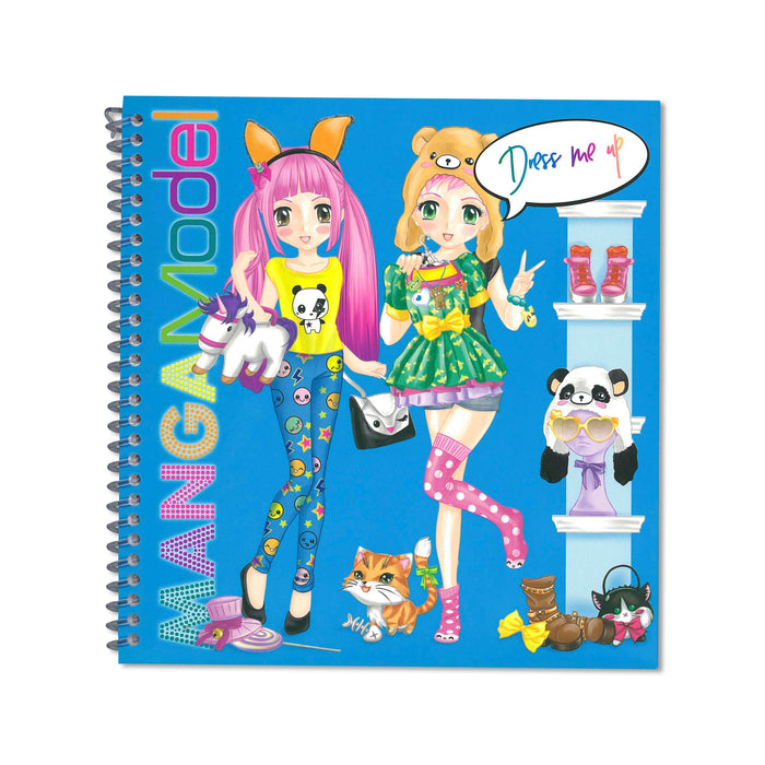 Manga Model Dress Me Up Sticker Activity Book