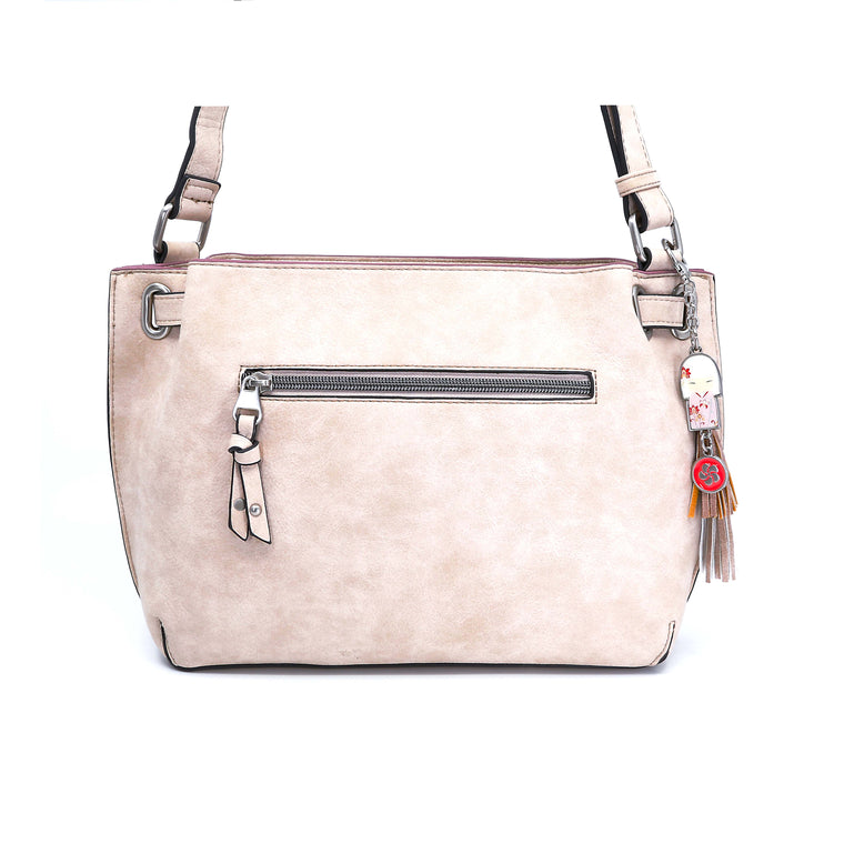 Sora – Beige Signature Shoulder Bag