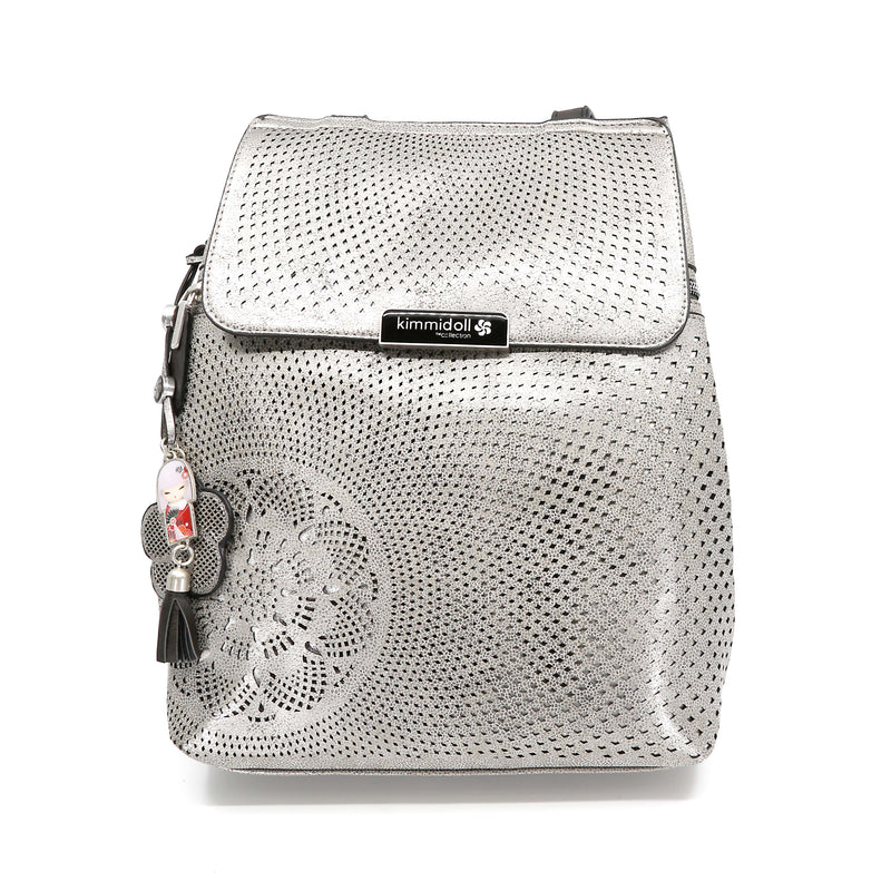 Mikoko – Silver Signature Backpack