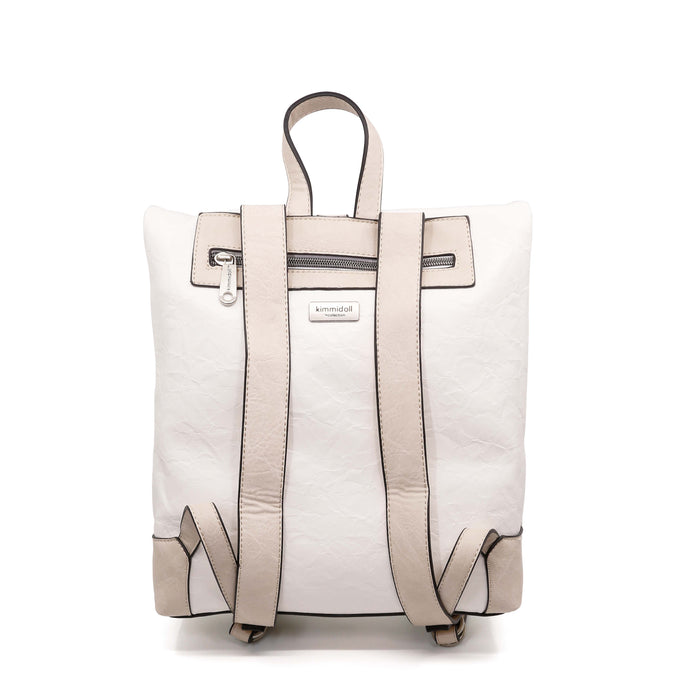 Kazuna – White Signature Backpack
