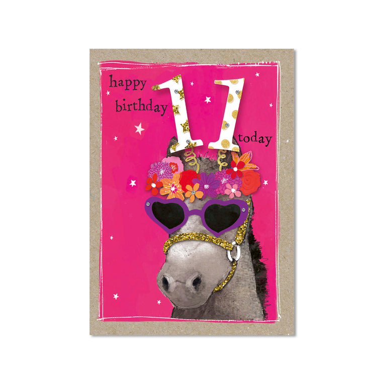 Age 11 Girl Birthday Card