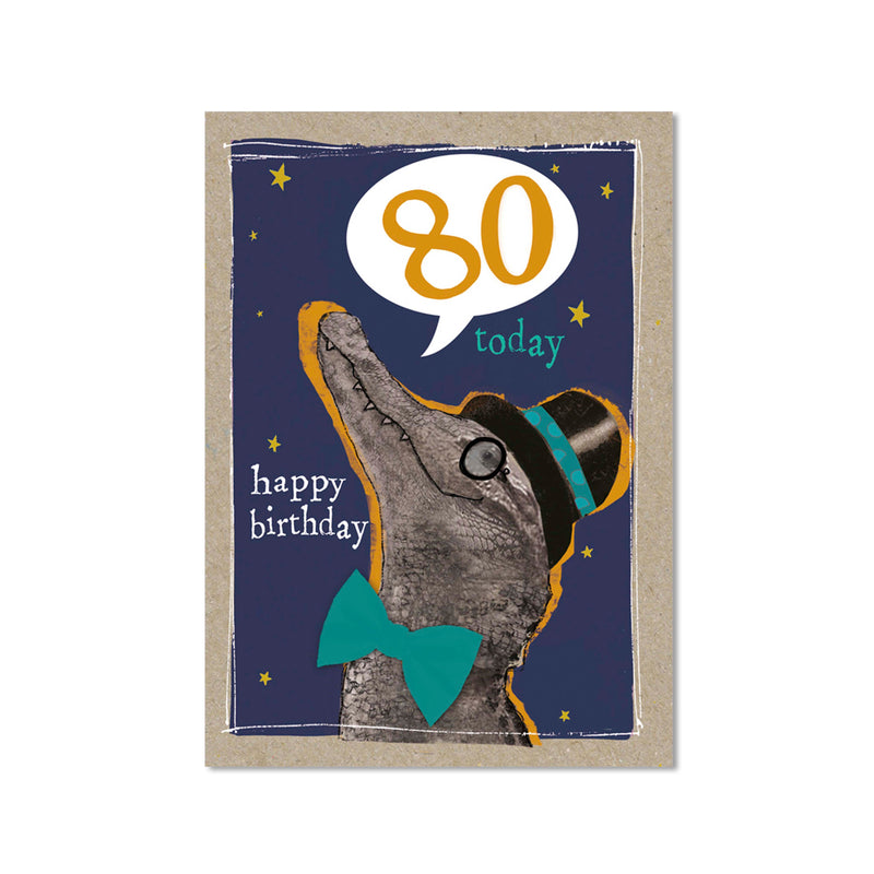 Age 80 Male Birthday Card