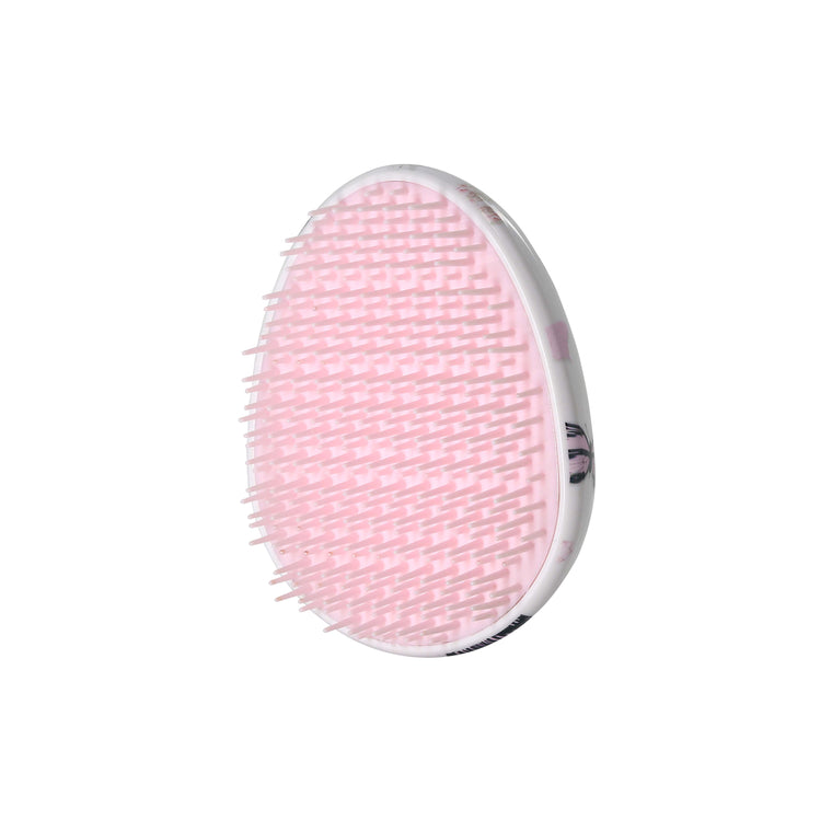Pink Butterflies - Oval Shaped Hairbrush