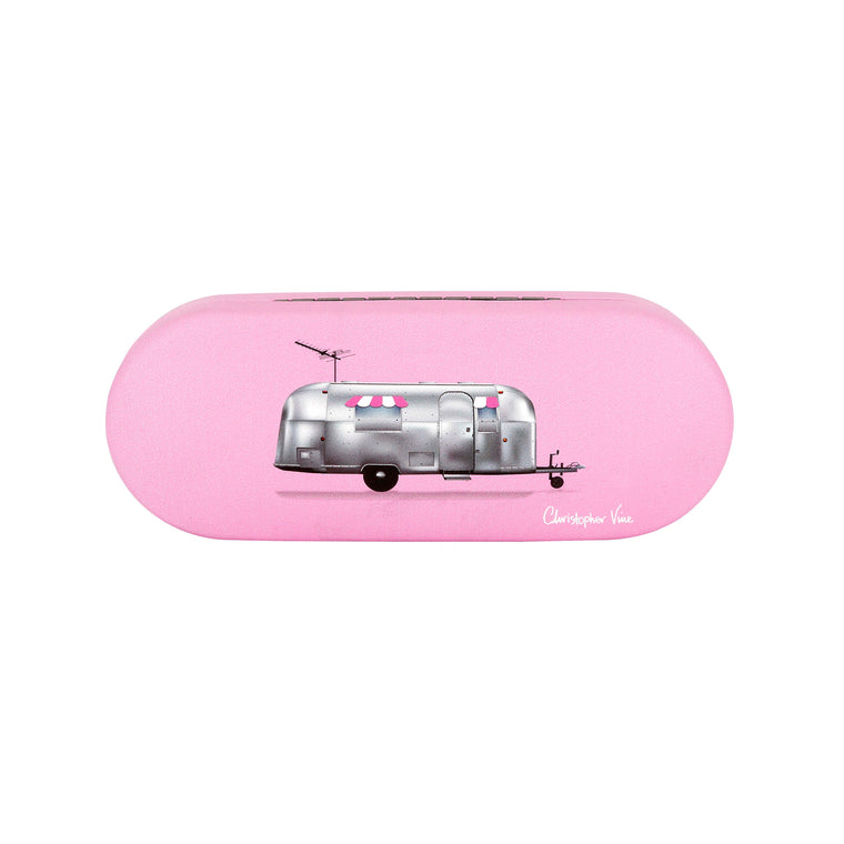 Airstream Trailer Pink - Glasses Case