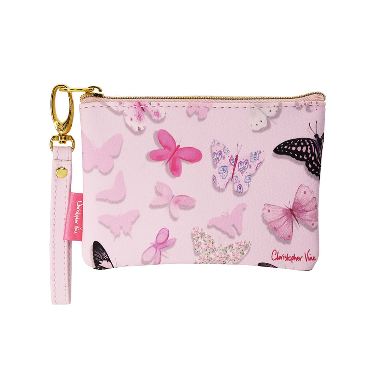 Pink Butterflies - Coin Purse