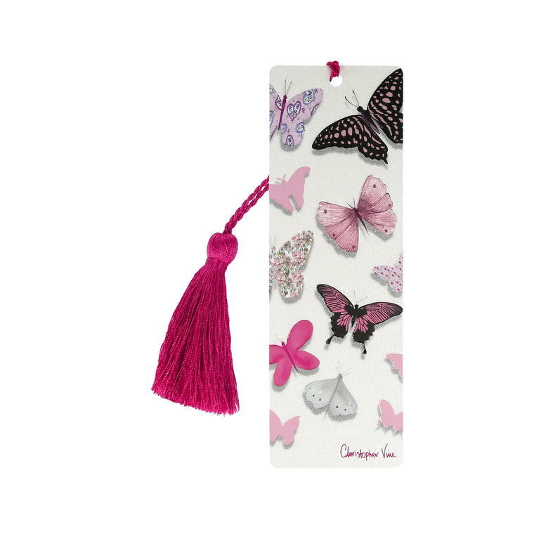Pink Butterflies - Bookmark