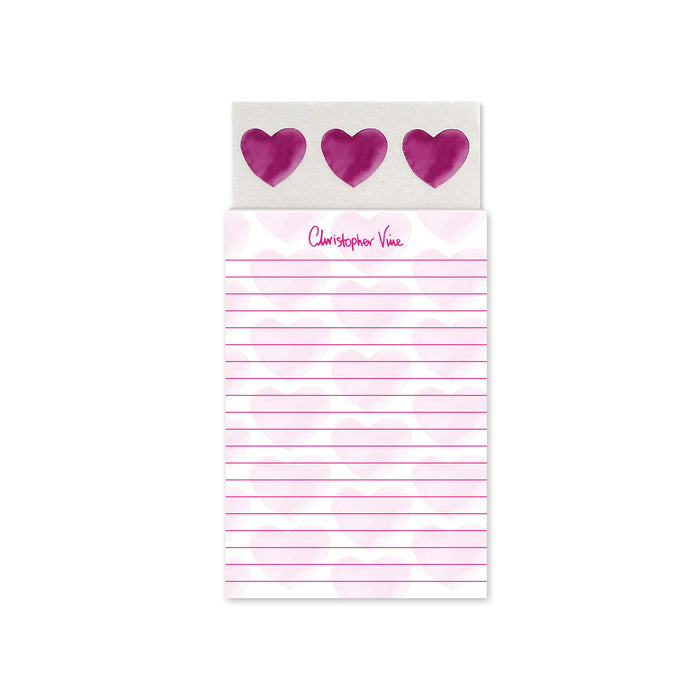 Three Hearts - Magnetic Notepad