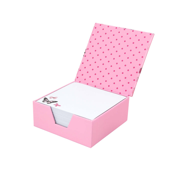 Pink Butterflies - Note Paper Box